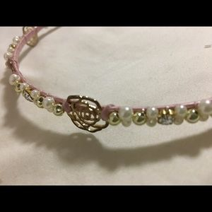 Accessories - Pink hairband with beads